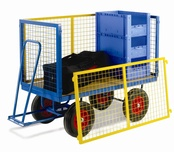 Turntable Trailer with Mesh Cage Supports