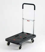 Plastic Folding Flatbed Trolley - 120Kg Capacity