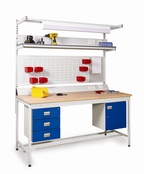 Square Tube Workbenches - Laminate Worktop