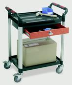 Utility Tray Trolleys - 2 Shelves with Drawer