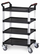 Utility Tray Trolleys - 4 Shelf
